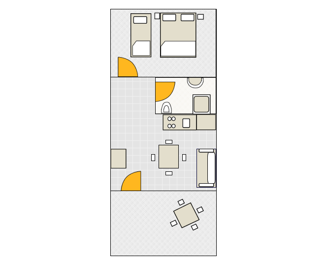 Apartment - A2 Ground-plan